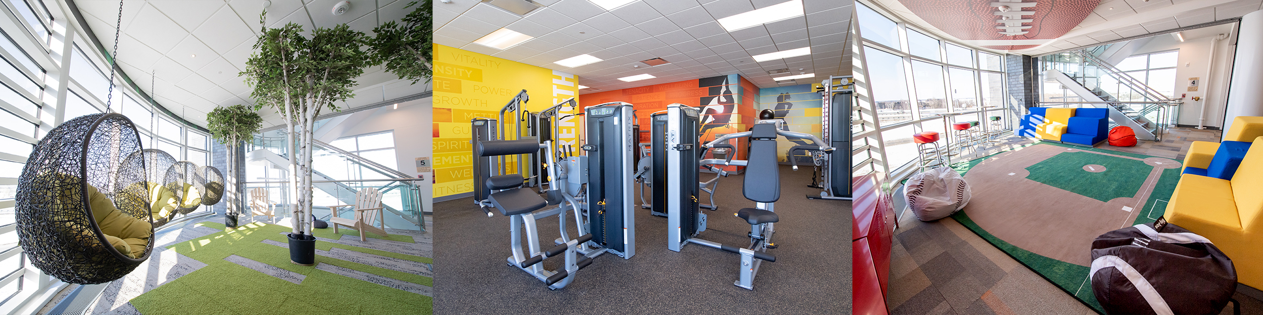 Fun Zones and Wellness Spaces at Summit Headquarters